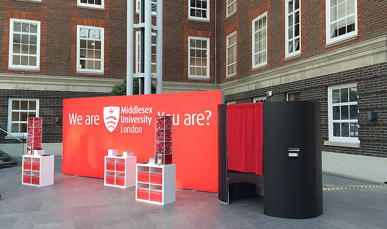 University photo booth hire London at Middlesex University