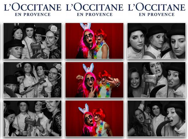 photo booth rental London - L'Occitane