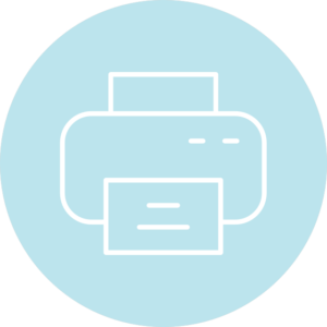 Photo booth hashtag printer - different printing options
