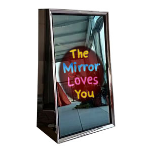 Photobooth hire London - the Selfie mirror - the mirror loves you