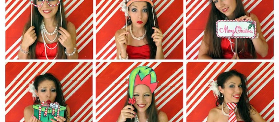 Christmas photo booth hire London - party time